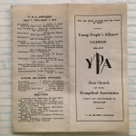 Young People's Alliance Calendar 1916-17
