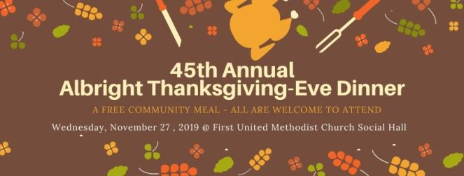 45th Annual Albright Thanksgivign-Eve Dinner